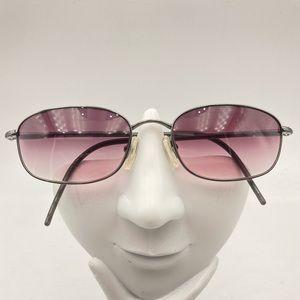 Vintage Giorgio Armani Gunmetal Oval Sunglasses